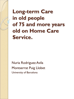 Long-term Care In old People Of 75 And More years old On Home