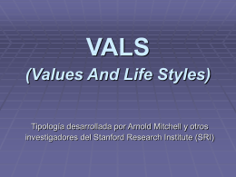 VALS (Values And Life Styles)