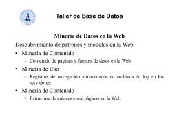 Taller de Base de Datos Minería de Contenido