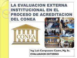 la evaluacion externa institucional en el proceso de acreditacion