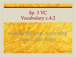 Sp. 3 VC Vocabulary c.4-1