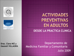 SCREENING - Dpto. de Medicina Familiar y Comunitaria
