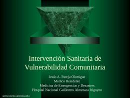 Intervención Sanitaria de Vulnerabilidad Comunitaria