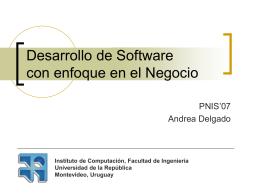 Desarrollo de Software con enfoque en el Negocio
