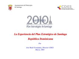 El Plan Estrategico de Santiago