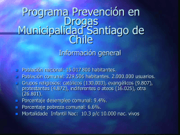 Programa Prevención en Drogas Municipalidad Santiago de Chile