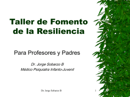 Taller de Fomento de la Resiliencia