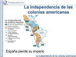 La independencia de las colonias americanas - E