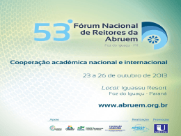 Cooperação Acadêmica Nacional e Internacional