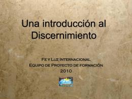 ¿Qué es discernimiento?