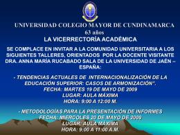 UNIVERSIDAD COLEGIO MAYOR DE CUNDINAMARCA 61 años