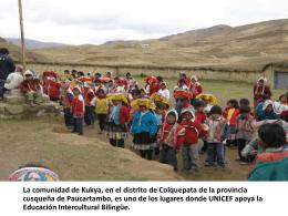 Fotoreportaje: Educación Intercultural Bilingüe