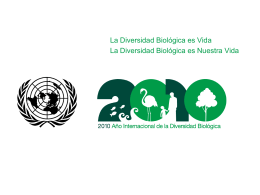 Día Internacional para la Diversidad Biológica