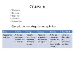 Uso de categorías EBC