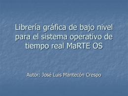 Arquitectura en MaRTE OS