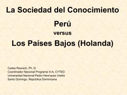 Perú versus Los países Bajos (Holanda).