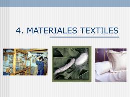 Los materiales textiles - I.E.S. Tiempos Modernos