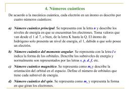 4. Números cuánticos