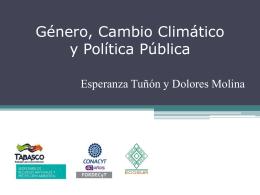 Género, Cambio Climático y Política Pública
