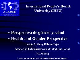 Género, Salud y Políticas