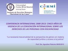 Agustina Palacios Mesa Redonda Capacidad Jurídica