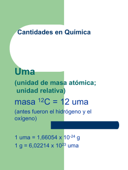 Cantidades en Química Uma