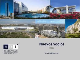 Nuevos Socios - Asociacion de Desarrolladores Inmobiliarios