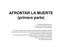 AFRONTAR LA MUERTE - Fundación Medicina y Humanidades