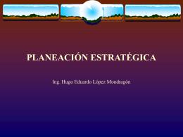 planeación estratégica - Instituto Tecnologico Superior de Panuco