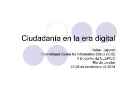 Ciudadanía en la era digital