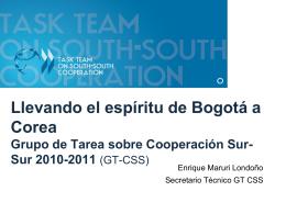 Presentación, Enrique Maruri, Secretario Técnico