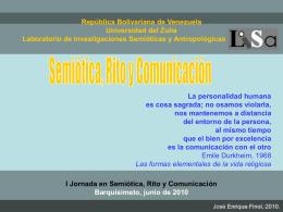 Semiótica, rito y comunicación 1