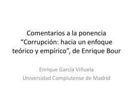 """Comentarios a la ponencia de Enrique Bour """"Corrupción: hacia un"""
