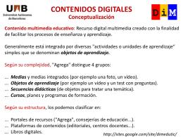 Contenido multimedia educativo