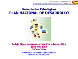 Bolivia Digna - practicasalternativas