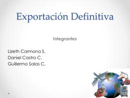 EXPORTACION DEFINITIVA iiii. ppt - Procedimientos-Aduaneros-II