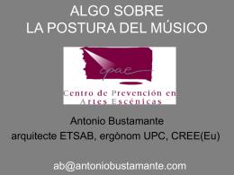 Diapositive 1 - Antonio Bustamante :::: Arquitecto :::: Ergonomo