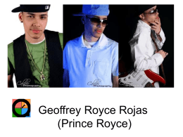 Geoffrey Royce Rojas (Prince Royce)