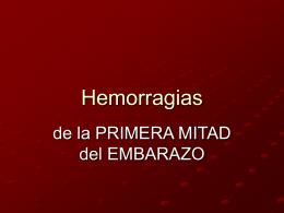 Hemorragias de la 1º mitad del parto