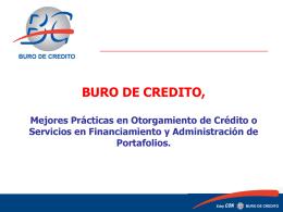 Cómo está integrado Buró de Crédito?