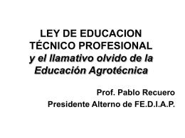 LEY DE EDUCACION TECNICO PROFESIONAL