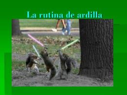 La rutina de ardilla larvarse