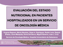 Estudio descriptivo del estado nutricional.