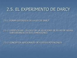 2.5.1. FORMA EXTENDIDA DE LA LEY DE DARCY