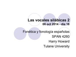 Las vocales silábicas