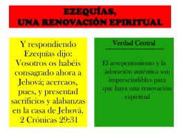 EZEQUÍAS, una renovación Espiritual