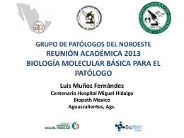 Biología Molecular Básica para el Patólogo