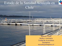 Estado de la sanidad acuícola en Chile (Dr