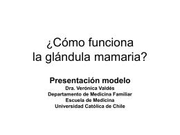 Presentación modelo Dra. Verónica Valdés Departamento