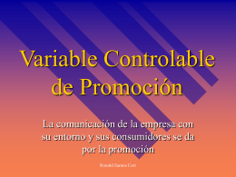 Variable Controlable de Promoción
